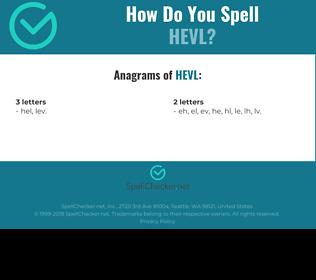 Correct spelling for HEVL
