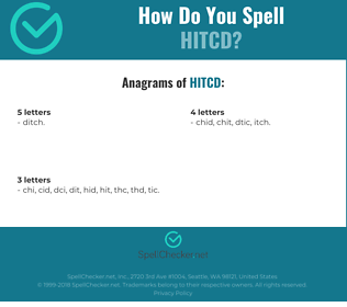 Correct spelling for HITCD