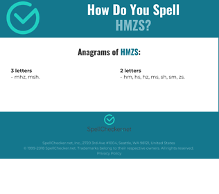 Correct spelling for HMZS