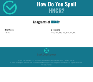 Correct spelling for HNCR