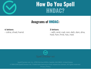 Correct spelling for HNDAC