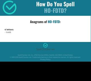 Correct spelling for HO-FDTD