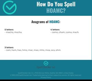 Correct spelling for HOAMC