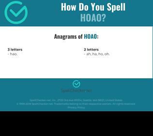 Correct spelling for HOAO