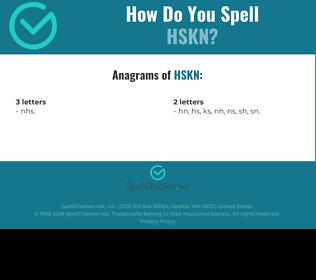 Correct spelling for HSKN