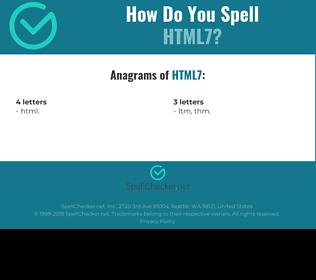Correct spelling for HTML7