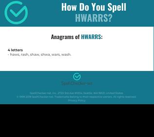 Correct spelling for HWARRS