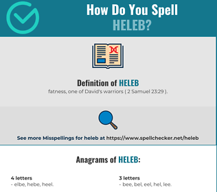 Correct spelling for Heleb