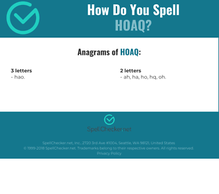 Correct spelling for HoAQ