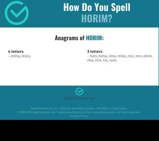 Correct spelling for Horim
