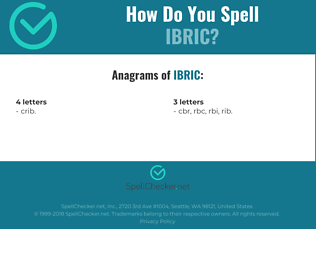 Correct spelling for IBRIC