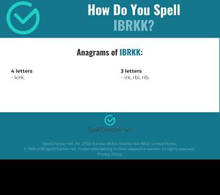 Correct spelling for IBRKK