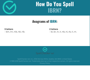 Correct spelling for IBRN