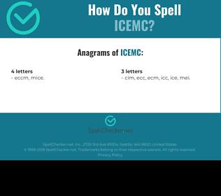Correct spelling for ICEMC
