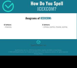 Correct spelling for ICEXCOM