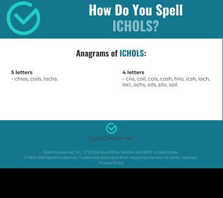 Correct spelling for ICHOLS