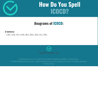 Correct spelling for ICOCD