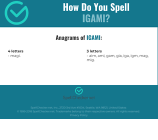 Correct spelling for IGAMI