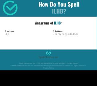 Correct spelling for ILHB