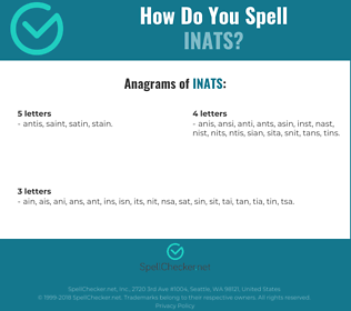 Correct spelling for INATS