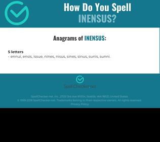 Correct spelling for INENSUS