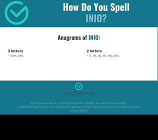 Correct spelling for INIO