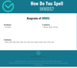 Correct spelling for INMDS
