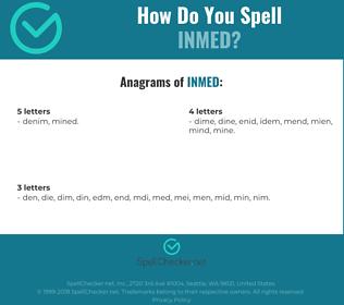 Correct spelling for INMED