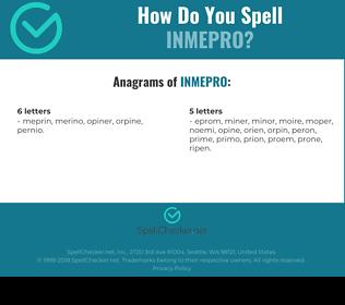 Correct spelling for INMEPRO
