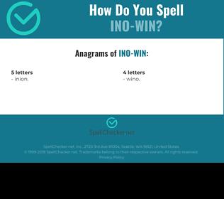Correct spelling for INO-WIN