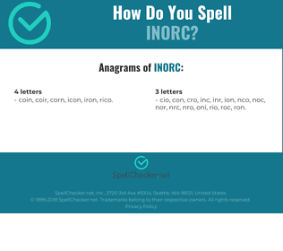 Correct spelling for INORC