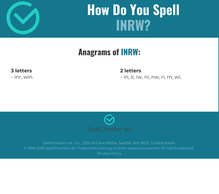 Correct spelling for INRW