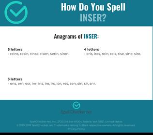 Correct spelling for INSER