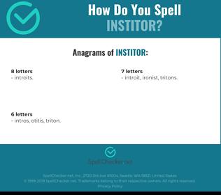 Correct spelling for INSTITOR