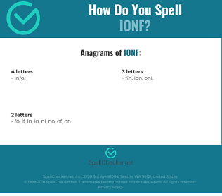 Correct spelling for IONF