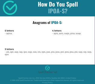 Correct spelling for IPOA-S