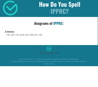 Correct spelling for IPPRC