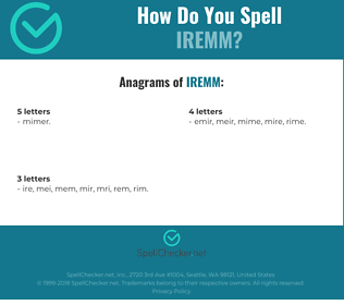 Correct spelling for IREMM