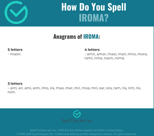 Correct spelling for IROMA