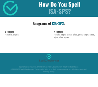 Correct spelling for ISA-SPS