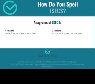 Correct spelling for ISECS