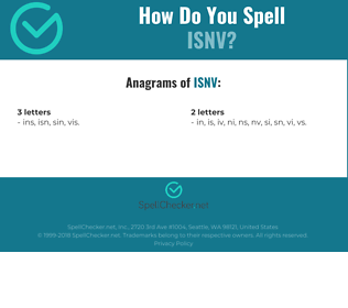 Correct spelling for ISNV