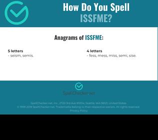 Correct spelling for ISSFME