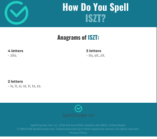 Correct spelling for ISZT