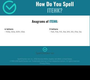Correct spelling for ITEHK