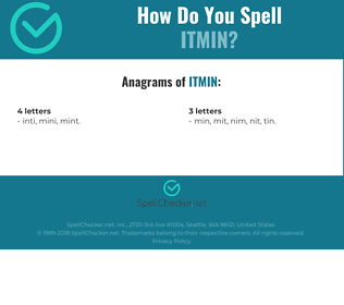 Correct spelling for ITMIN