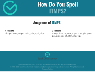 Correct spelling for ITMPS