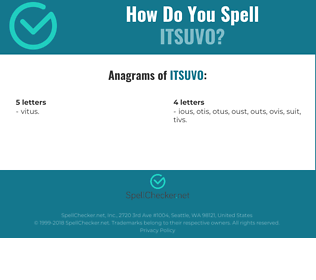 Correct spelling for ITSUVO