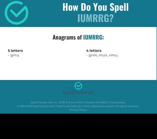 Correct spelling for IUMRRG