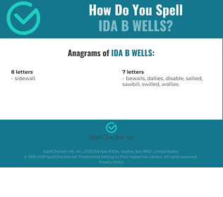 Correct spelling for Ida B Wells